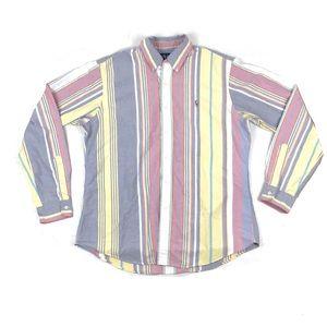 Ralph Lauren vtg 90s striped buttondown shirt L